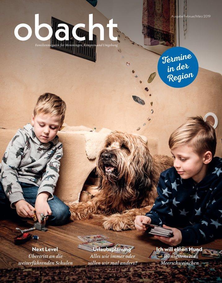 Familienmagazin obacht Ausgabe Februar-März 2019